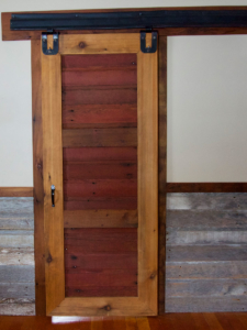 custom sliding door made from barnwood